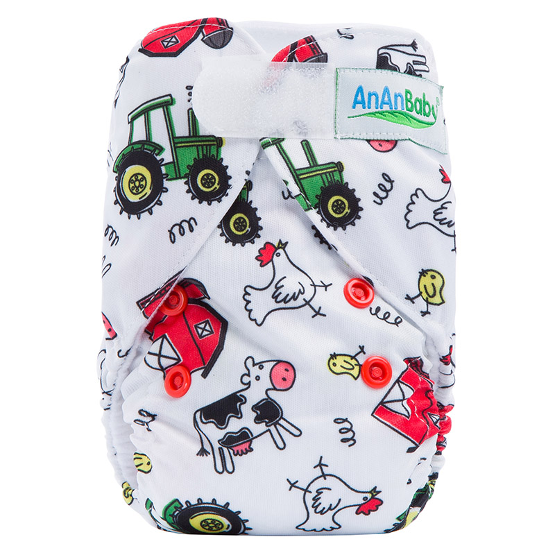Modern Cloth Nappies One Size Waterproof Hook And Loop Fastener Newborn Diaper NBL13