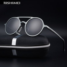 New men's aluminum-magnesium frame polarized sunglasses retr
