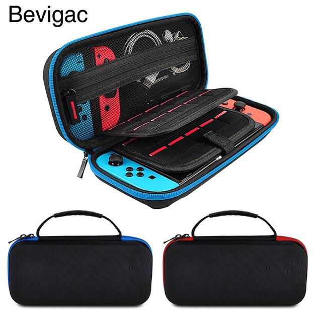 Bevigac נסיעות נשיאת מגן מקרה אחסון פאוץ תיק תיבת עם 20 משחק כרטיס חריץ עבור Nintendo Nitendo Nintend מתג קונסולה