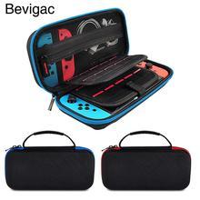 Bevigilac estojo de proteção para nintendo switch, bolsa de viagem, armazenamento com 20 espaço para cartão de jogos para nintendo switch
