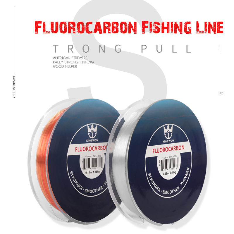 Simago Fishing line Carbon Fiber 100% Pure Fluorocarbon Coated 165Yds/150M Premium Spool Fly Line 5-20LB Fast Sink for Carp Fish