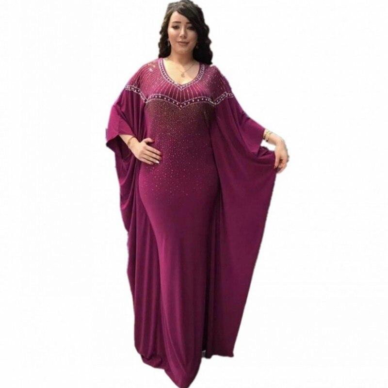 Dashiki Africa Clothing African Dresses For Women Bazin Broder Riche Sexy Slim Ruffle Long Sleeve Robe Evening Long Maxi Dress