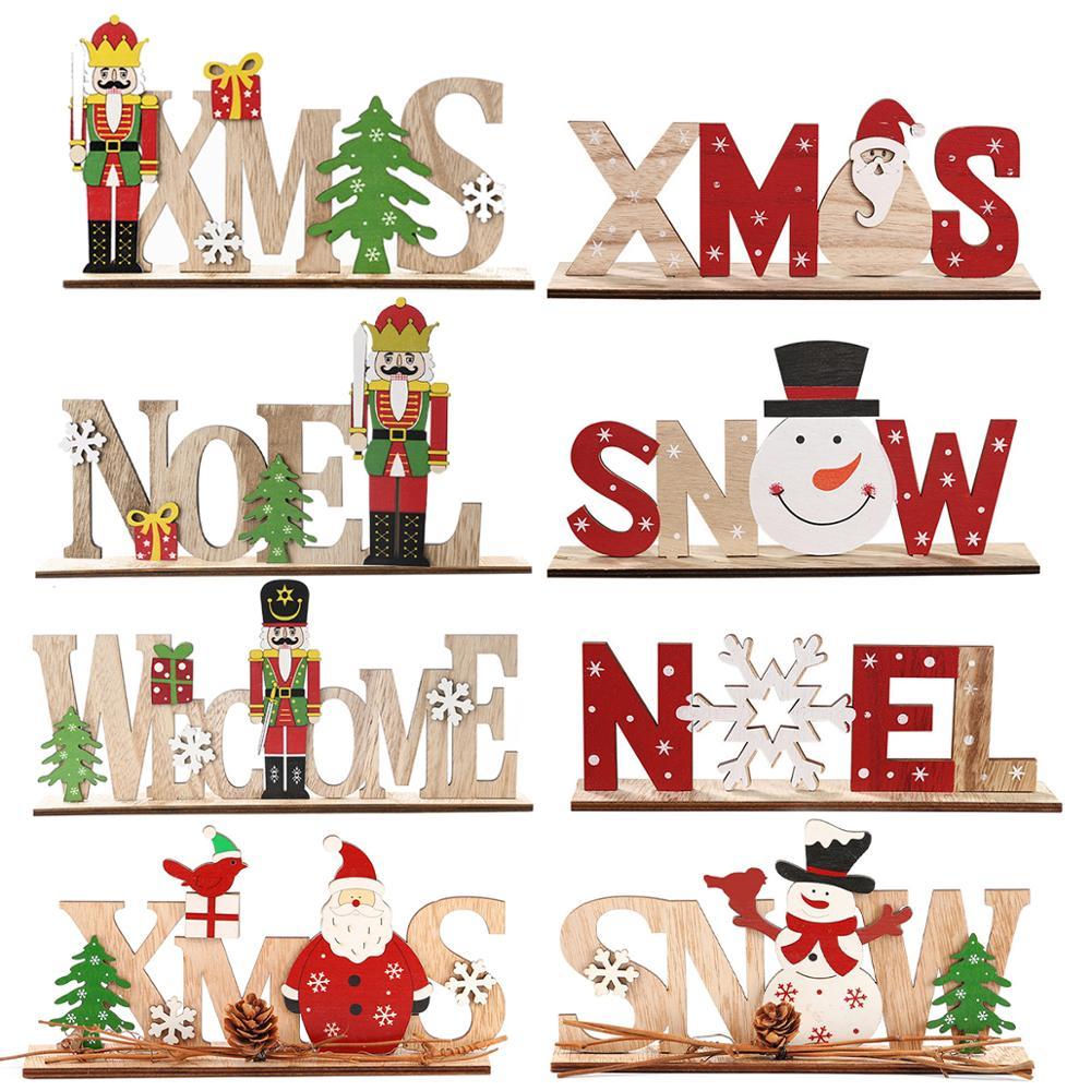 Счастливого Рождества, строительный декор для рождественской елки 2020, Рождественское украшение для дома, рождественские подарки, с новым г...