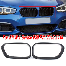 2pcs/Set car Glossy Black front Grille car styling For BMW FACELIFT 1 Series F20 F21 2015-2019 car front Grilles цены