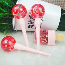 Lipgloss-Base Lollipop-Tube Vegan Fruit Glitter Candy Wholesale Clear Love Heart Flower