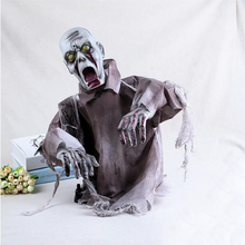 Halloween Horror Decorations Props Zombie Ghost Haunted House Scary Prop Bar Party Decoration Tricky Glowing Scream Toy Skull