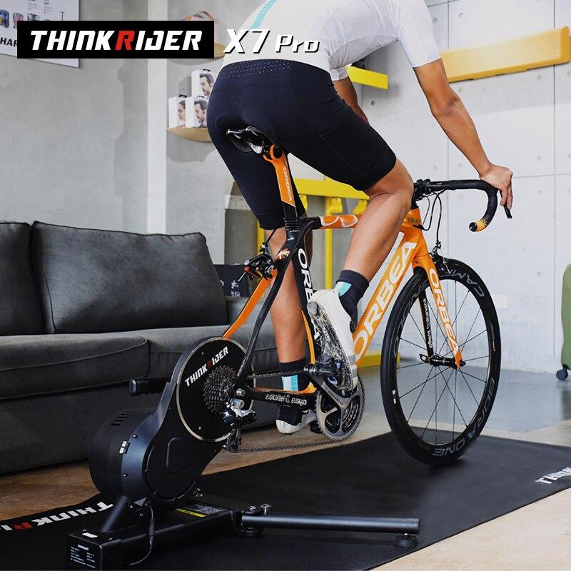 Thinkrider X7 Pro Smart Bike MTB Della Bicicletta Della Strada Telaio in Fibra di Carbonio friendly Built-in Misuratore di Potenza Ergometer ZWIFT perfPro