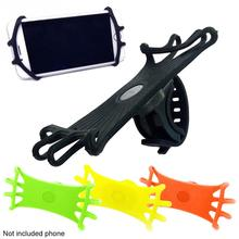 Bicycle Motorcycle Mobile Phone Holder Silicone Shock Absorber Handle Seat Accessories 360 Rotation