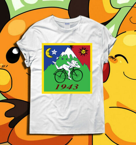 Albert Hofmann LSD Trip T Shirt Top Bicycle Day 1943 Acid Psychedelic S - XXL