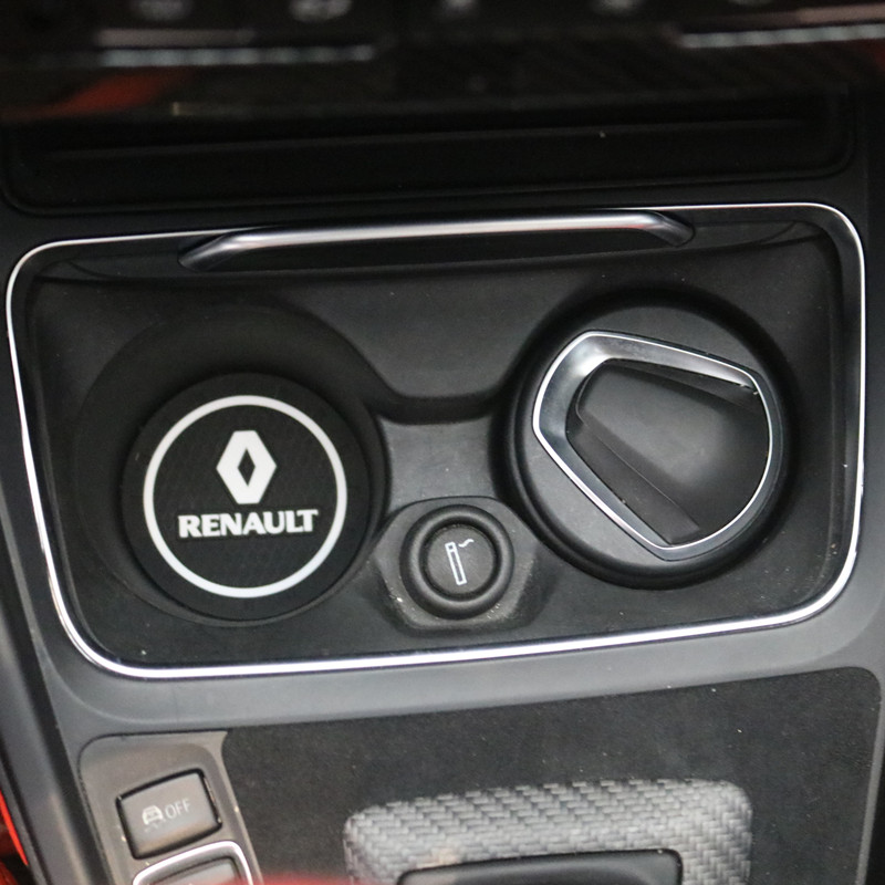 3D автомобильный держатель для бутылки с водой Противоскользящий коврик из силикагеля для Renault Megane 2 3 Duster Logan Clio Laguna 2 Captur автомобильный Стайл...