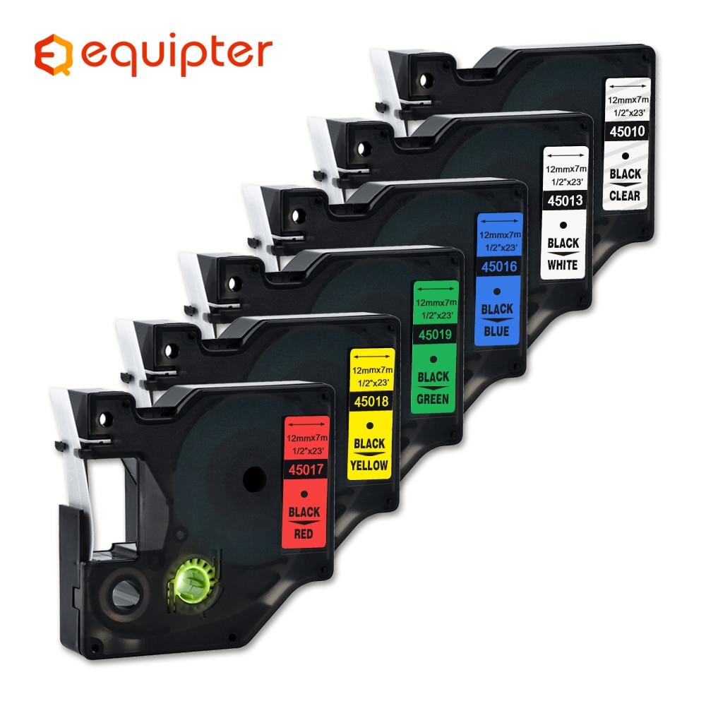 Mixed 15 colors 45013 label tape Compatible dymo D1 12mm label printer laminated D1 45010 ribbon cas