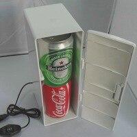 USB Refrigerator Mini Food Beverage Cosmetics Refrigerating Cabinet Cold Heating Portable Insulated Insulin Refrigeration Plant