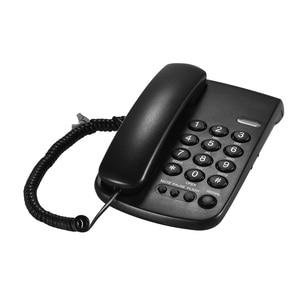 Image 4 - Портативная Проводная телефонная пауза/Повторный набор/вспышка/бесшумный механический замок настенный монтируемый базовый наконечник для дома и офиса