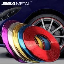 Autocollant de jante de roue de voiture décoration de roue chromée jantes de pneu d'automobile décoration de Protection de bande plaquée accessoires extérieurs de style de voiture