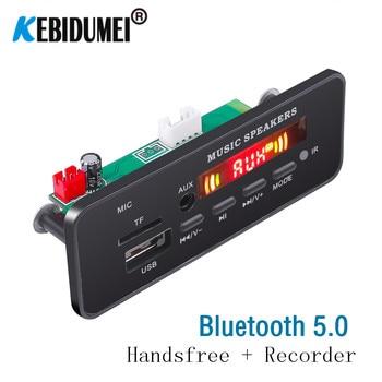 Coche Bluetooth Radio manos libres Mp3 decodificador Panel inalámbrico FM módulo tarjeta TF 3,5mm USB AUX adaptador de música para Toyota yatu