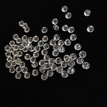 6*8mm 100pcs Rondelle Austria Faceted Crystal Acrylic Transparent Beads Loose Spacer Round for Jewelry Making Accessories