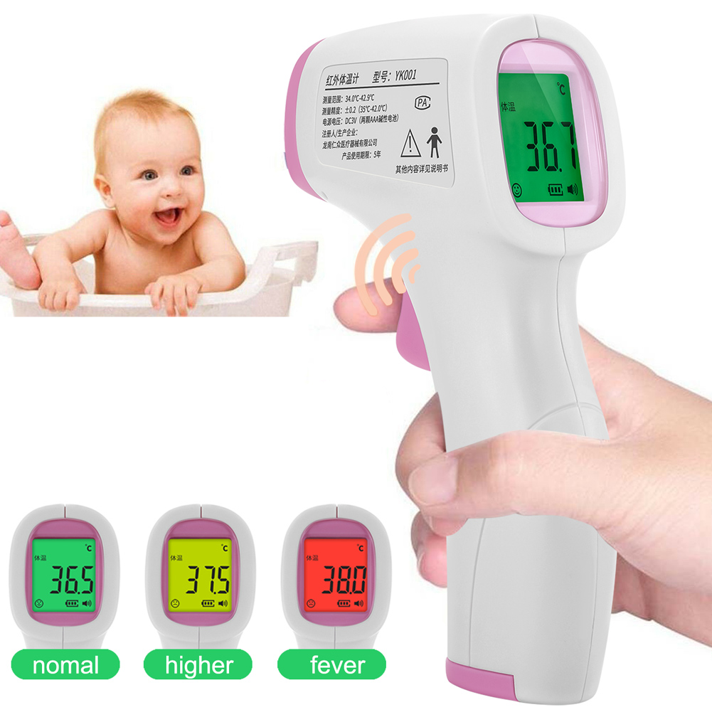 Energy Saving Digital LCD Infrared Thermometer NO-contact Temperature Meter Perfect for Adult Baby  HY99