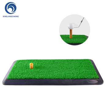 цена на Portable Golf Hitting Mat Indoor Outdoor Training Turf Golf Mat with Rubber Tee Hole Practice Golf Training Aids Accessories