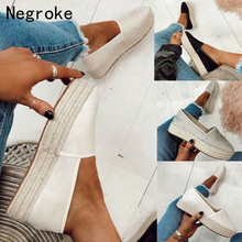цена на Women Flats Shoes Platform Espadrilles Slip On Flats Suede Ladies Loafers Moccasins Casual Shoes Women Creepers Spring Summer