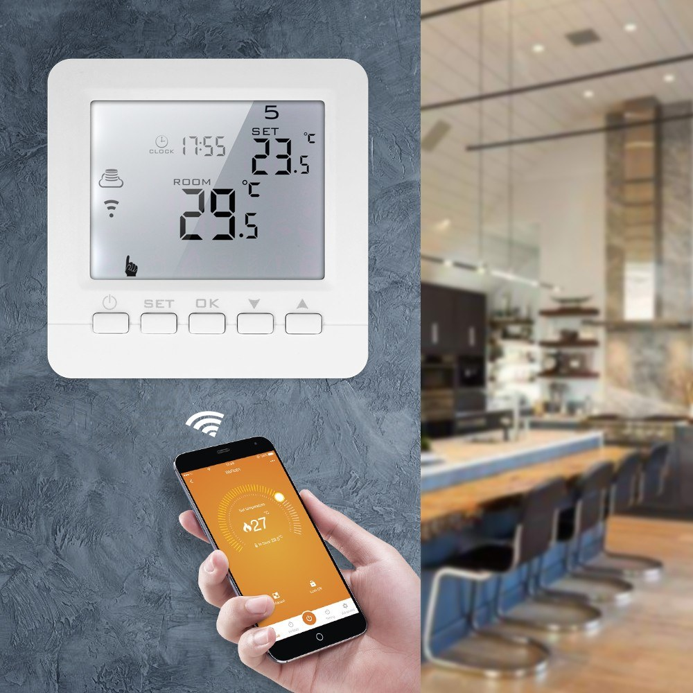 Wifi Thermostat 220V 3A Water Floor Heating Digital Smart Temperature Controller Thermostatic Controls Wireless APP Switch