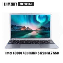 LHMZNIY RX-5 Studente Del Computer Portatile 15.6 Pollici FHD IPS Dello Schermo Intel E8000 4GB di RAM 256GB M.2 SSD Netbook 1080P