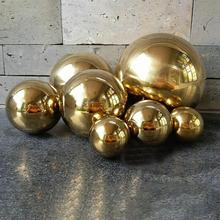 25-120 мм нержавеющая сталь титановый золотой серебряный полый шар бесшовное украшение для дома и сада зеркальный шар сферические вечерние украшения