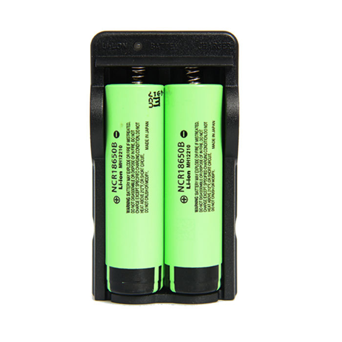 Foldable 18650 Double Charge 18650 Double Sink Travel Charger Color Box Packaging
