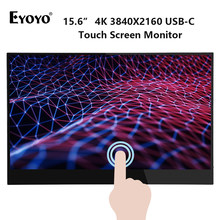 Eyoyo EM15T 4K Portable Touch Gaming monitor ips screen 15.6'' UHD HDMI USB Type C display for PC laptop phone PS4 switch XBOX(China)