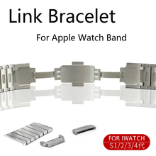 Stainless Steel Link Bracelet strap for apple watch band 42mm 44mm 40mm 38mm Watchband wristwatch Belt for iwatch Series 4 3 2 1 crested luxury butterfly loop for apple watch band strap 42mm 38mm iwatch 3 2 1 stainless steel link bracelet watchband belt