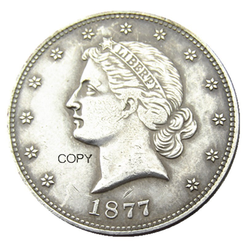 USA 1877 Paguet Head Half Dollar Patterns Silver Plated Copy Coin