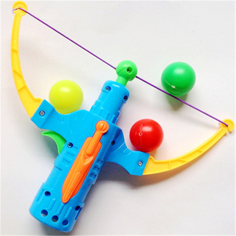 Table Tennis Gun Bow Archery Plastic Ball Flying Disk Arrow Shooting Toy Outdoor Sports Children Gift Slingshot Hunting Boy Toy
