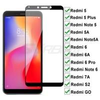 100D Vetro Temperato Per Xiaomi Redmi 5 Più 5A Go 6 6A S2 7A Protezione Dello Schermo Redmi Nota 5 5A 6 Pro Copertura Completa Pellicola Protettiva