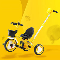 Children's Trolley Two way Tricycle can Turn to Pedal 18 months 6 Years old for Light and Multiple Colors