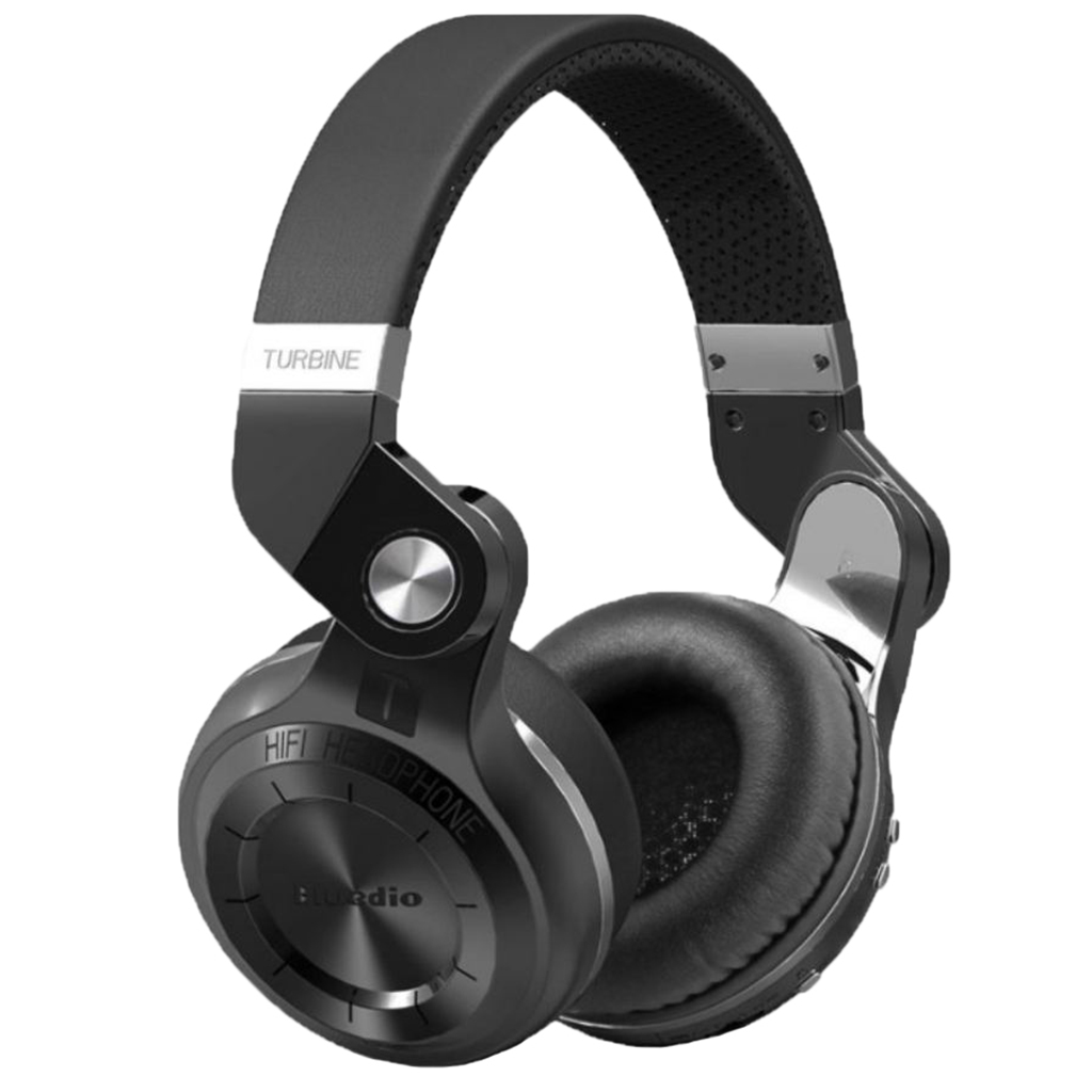 Over Ear Stereo Headphones, Wireless Bluetooth On Ear Headset 3.5mm Jack, for Cell Phone PC Computer - Black
