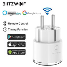 BlitzWolf BW-SHP6 Spina di UE 220 V-240 V 15A Misurazione Versione WIFI Presa Intelligente Timing Lavoro di Controllo Remoto con amazon Alexa/Google(China)