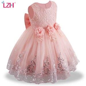 Vestidos infantis para o bebê meninas rendas vestido de princesa do bebê 1st ano vestido de aniversário batismo vestido de festa recém-nascido roupas 6 12 24 mês