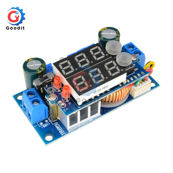 DC-DC Step Down Charging Controller Module Dual Digital Display LED Regulator Control Board 5A MPPT Solar Panel CC/CV image