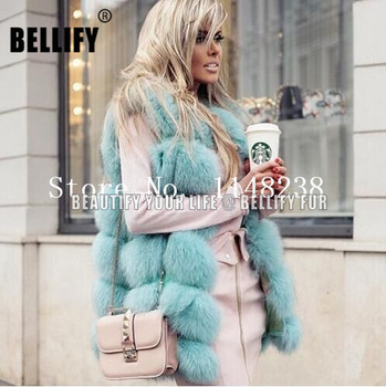 Vintage hot sell Women Real fur vest Gilets  Customized PLUS SIZE genuine jackets Natural fox coat