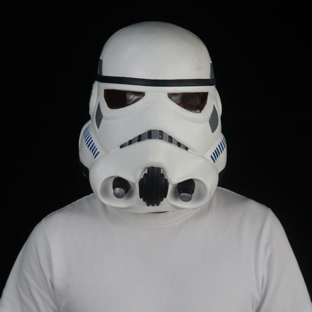 Star Wars Imperial Stormtrooper Mask Cosplay The Rise of Skywalker Latex Helmet Masks Halloween Party Props