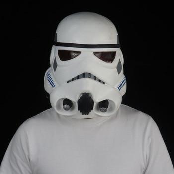Star Wars Imperial Stormtrooper Mask Cosplay The Rise of Skywalker Latex Helmet Masks Halloween Party Props frankenstein horror mask cosplay latex masks helmet halloween party costume props