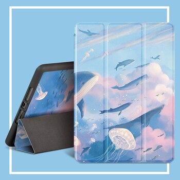 For iPad  Pro 10.5-inch case, 2019 10.5, iPad 2020 11,Air3 10.5 , Air 2/1 9.7, iPad mini 4/5 7.9 inch tri-fold smart pencil case for ipad 2018 2017 9 7 inch smart pencil case ipad 2019 10 2 mini 4 5 7 9 air3 pro 10 5 air 2 1 9 7 ipad 2020 11 inch case