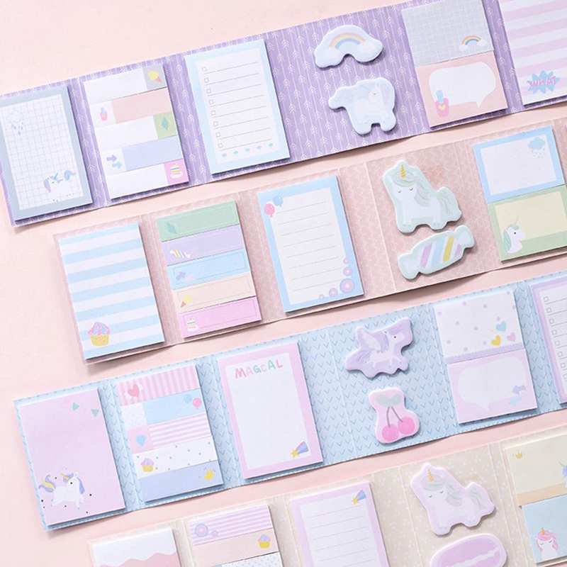 Unicorn Memo Sheets Stationery Sticky Notes Cute Planner Stickers Memo Pad School Supplies Sticky Note Memo Notes Set