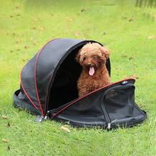 Portable Folded Cat Net Tent Dog House Cage Tent for Small Dogs for Cats Outdoor Kennel Pet Puppy Anti-Mosquito Net Tents(China)