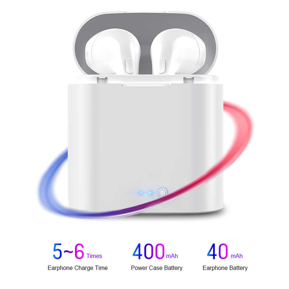 I7s TWS auriculares inalámbricos Bluetooth 3D auriculares con micrófono estéreo Android para Iphone Xiaomi Mini con caja de carga deportiva