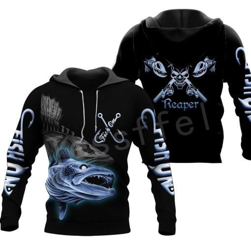 Tessffel New Fashion Animal Marlin Bass Fishing Harajuku casual Pullover 3DPrint Zipper/Hoodie/Sweatshirt/Jacket/Mens Womens s15