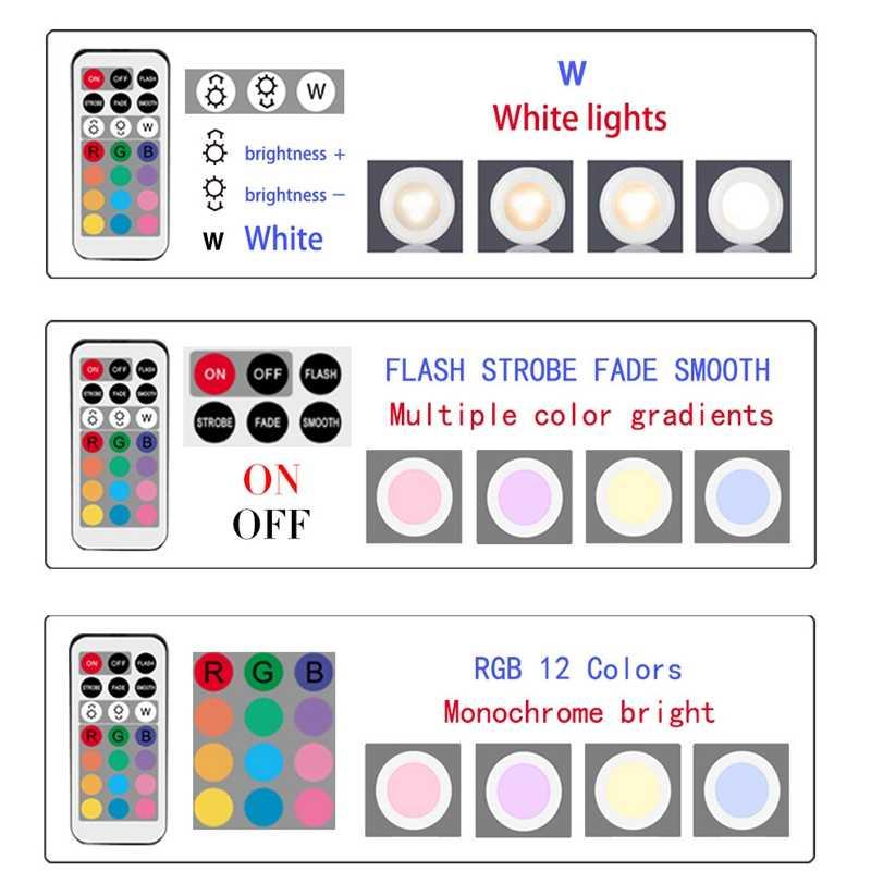 調光対応の rgb led ライトキッチンランプタッチセンサーワードローブ/クローゼット/キャビネット夜の光とパックライトリモコン 12 色