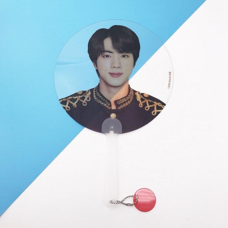 Kpop Bangtan Boys WORLD TOUR такие же полупрозрачные вентиляторы любят себя ответят на концерты те же вентиляторы 18X28 см - Цвет: JIN