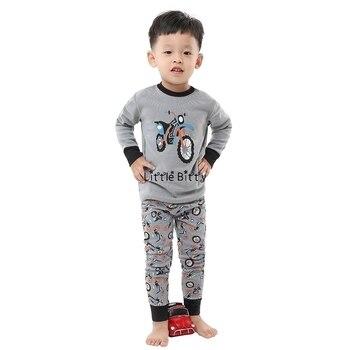 100 Cotton Boys and Girls Long Sleeve Pajamas Sets Children's Sleepwear Kids Christmas Pijamas Infantil Homewear Nightwear - NO133, 8