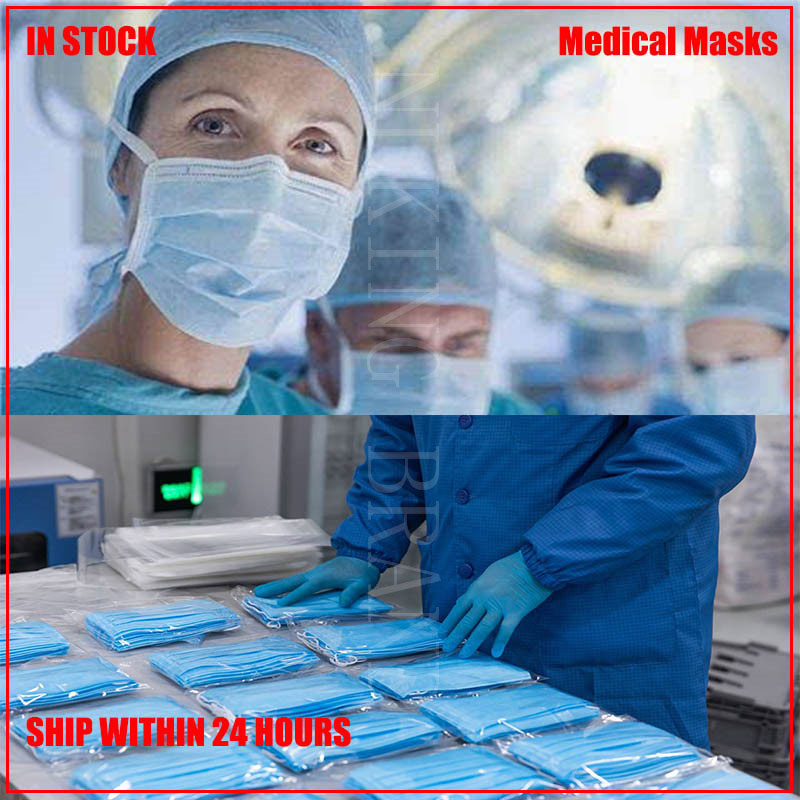 200/100PCS Disposable Face Mask 3-Layer Protective  Anti Dust Antismog Carbon Non Woven Anti-Dust Face Masks (Blue)먼지 마스크 Kids