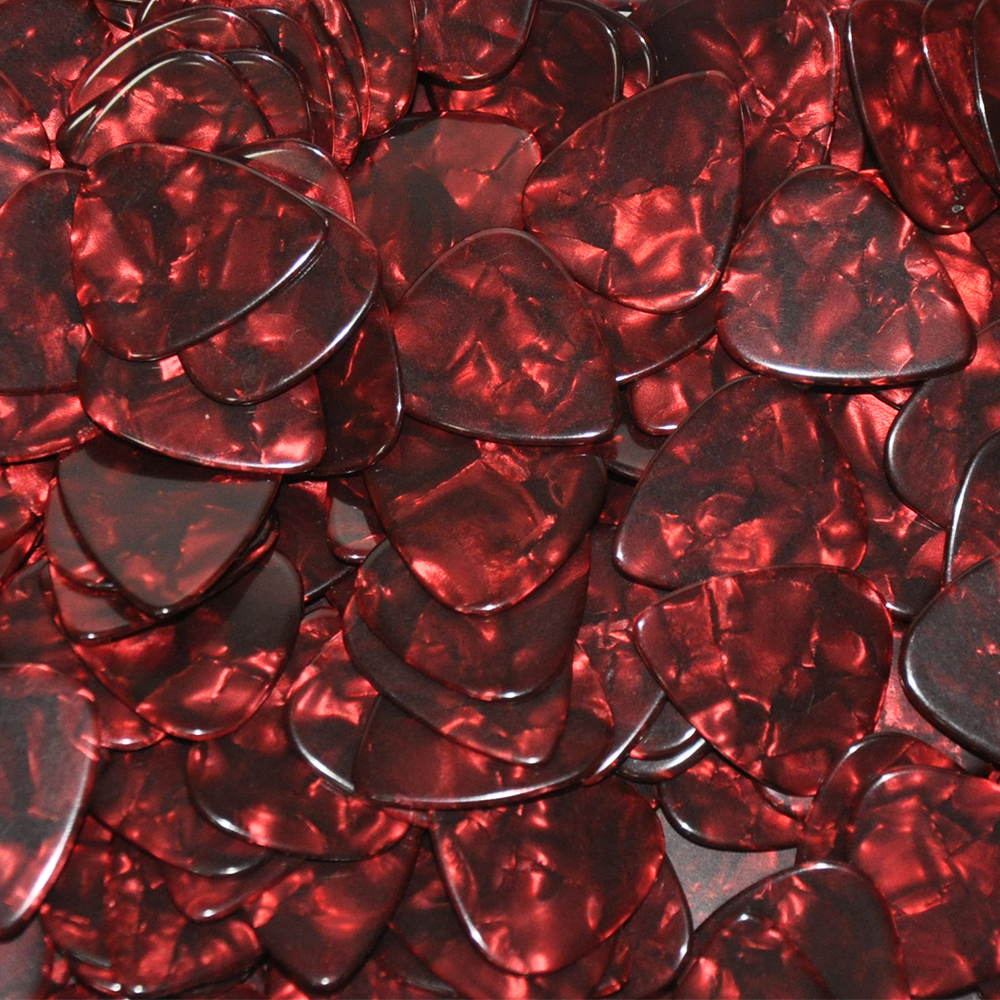 Lots of 100 pcs Ultra Heavy 1 5mm Celluloid Guitar Picks Standard Heart Shape 6 Colors in Guitar Parts Accessories from Sports Entertainment